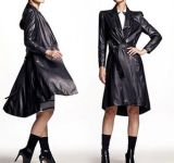Revestimento de couro genuíno do estilo longo colorido para mulheres