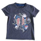 3D綿の品質Sqt-612の人の男の子の衣類の洗浄の子供のTシャツ