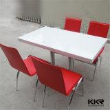 Table de salle à manger à la surface solide de 4 sièges Rectangle Food Court pour restaurant