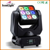 9X10W LED Moving Head Matrix Light pour l'étape