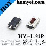 Interruptor do tacto com Pin liso quadrado SMD do pé 2 da tecla vermelha de 3*6*2.5mm (HY-1181P-R)