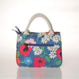 Rétro sacs à main floraux imperméables à l'eau de femmes de toile de PVC (99181)