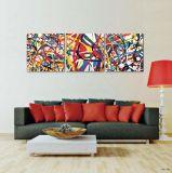 Peinture à la maison de toile de cheval d'art de mur d'hôtel de décor