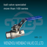 2-PC Female Threaded Carbon Steel Ball Valve 1000 P/in