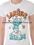 Les hommes frais d'impression de modèle de dessin animé vendent le T-shirt en gros de coton