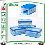 Volumen de negocios transparente de plástico en movimiento envase de la caja