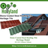 Hoja revestida de piedra de la azotea del acero (azulejo clásico)