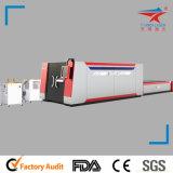 máquina de estaca automática do laser do metal de folha lisa da fibra da tela 500With1000W (TQL-MFC500-3015)