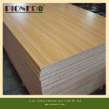 Weißes Melamin-überzogenes Furnierholz für moderne Küche-Schränke