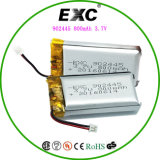 Baterias do Recharge 3.7V800mAh do polímero 902445 do lítio para o carro do brinquedo