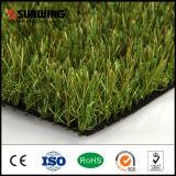 Grün des niedrige Kosten-natürliches Blick-30mm, das künstliche Gras-Rasen-Matte landschaftlich verschönert