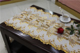 50cmの長いレースの金か銀製PVCビニールのかぎ針編みのテーブルクロス(JFBD006)