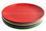 Placa de jantar de melinha colorida de 9 polegadas