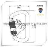 Acero profesional modificado para requisitos particulares Karabiner de la seguridad del OEM