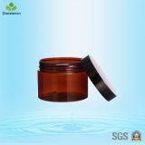 vaso crema di plastica 300ml/contenitore cosmetico con i coperchi neri