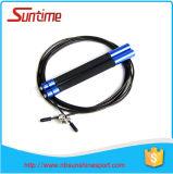 Corde de saut confortable de câble de vitesse de sensation avec le traitement en aluminium, corde de saut, corde de saut à grande vitesse réglable, corde de saut de Crossfit
