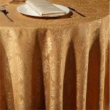 Hotel-Tischdecke-Baumwollbunte silberne Stickerei 100% (DPF10783)