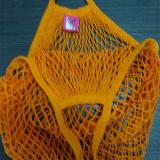 Sacchetto netto della drogheria del cotone del Drawstring riutilizzabile della maglia per l'arancio