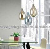 Iluminação clássica de pingente de vidro moderno para sala de jantar