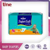 Pañales suaves y absorbentes estupendos de la escritura de la etiqueta privada de los pañales del bebé