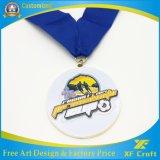 丸型(XF-MD06)のカスタムエナメルの銀のスポーツのフィニッシャーメダル
