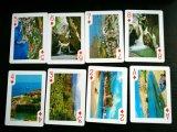 54 cartões de jogo de papel do projeto diferente com os cartões de jogo do suporte/póquer