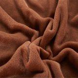 Zoll-weiche Plüsch-Nerz-Knie-Zudecke 100% der Polyester-Schokoladen-Farben-50X60