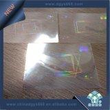 Hologramme transparent de garantie inaltérable