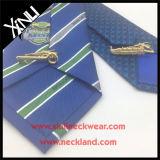 Legame di marchio tessuto jacquard di seta su ordinazione Handmade degli uomini di 100%