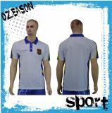 La coutume d'usine folâtre le T-shirt blanc de polo de Mens de maille (P013)