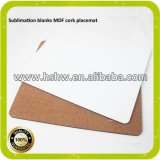 MDF Placemat оптовых продаж подпертое пробочкой для сублимации краски