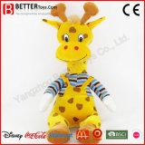 Juguetes lindos del bebé de la jirafa de los animales rellenos de la venta caliente