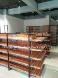 Estante material de acero de madera del supermercado