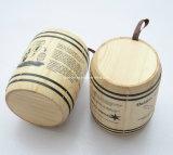 カスタム自然なマツ木のコーヒー豆のバレル