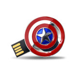 Schild-Metall-USB-Blitz-Laufwerk Pendrive des Kapitän-Amerikas