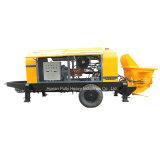 Bomba concreta portátil elétrica elevada do motor 80 M3/H de Simens da eficiência da condição nova (HBT80.16.116S)