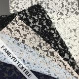 Tela de nylon do laço do algodão Shaped colorido da flor