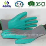 Interpréteur de commandes interactif de polyester avec les gants de travail enduits par nitriles (SL-N103 ()