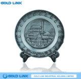Plaque commémorative de vente chaude de souvenir de plaque métallique fait sur commande en bronze