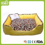Het zachte Comfortabele Afgedrukte Bed van het Huisdier van de Luipaard