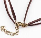 女性の二重革鎖のためのカラーチョークバルブのネックレス