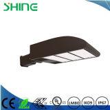 L'indicatore luminoso del LED Shoebox palo, parcheggio illumina la lampada esterna di zona della via del luogo, IP67 impermeabilizza il supporto del braccio con Dlc ETL