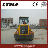 Weichaiの強力なエンジンおよびジョイスティックが付いている2トンの車輪のローダー
