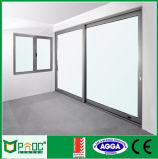 Tipo scorrevole di alluminio portello con doppio vetro Pnocsd0038