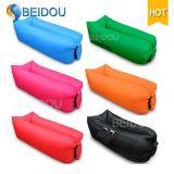 Ein-Mund Nylonbohnen-Beutel-aufblasbarer Sofa-Luft-Bananen-Schlafsack