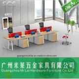 Muebles modernos elegantes del escritorio del sitio de trabajo del ordenador de oficina del marco del vector del metal