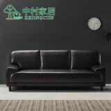 Nordisches modernes Hauptmöbel-Leder-Sofa