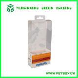 Embalagem de dobramento da caixa da impressão transparente plástica