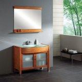 Vaidade impermeável do banheiro do carrinho do assoalho da madeira contínua