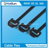 Relation étroite libérable de fermeture éclair de serre-câble d'acier inoxydable de la largeur 10mm pour la construction navale